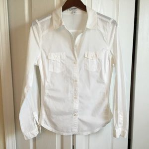 Old Navy M white Long Sleeve button down shirt